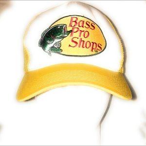Bass Pro Shops Black Snapback Baseball Trucker Hat